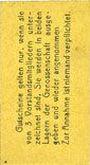 Billets Erfurt. Waren-Einkaufs Abt. des Thüringischen Beamtenvereins. Billet.1 pf 1.3.1920