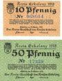Billets Erlelenz. Kreis. Billets. 10 pf, 50 pf 19.10.1918
