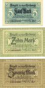 Billets Eschwege. Stadt. Billets. 5 mark, 10 mark, 20 mark 1918