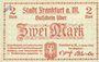 Billets Frankfurt am Main. Billet. 2 mark 1.2.1919