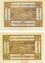 Billets Furth im Wald. Stadt. Billets. 25 pfennig n. d. - 1.7.1921 (2 ex)
