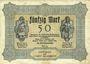 Billets Gladbeck. Gemeinde. Billet. 50 mark 1.10.1922, série (Reihe) G III
