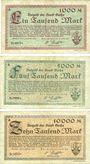 Billets Gotha. Stadt. Billets. 1 000, 5 000, 10 000 mark 8.2.1923