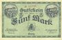 Billets Greiz. Stadt. Billet. 5 mark 1.11.1918