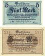 Billets Grimma. Amtshauptmannschaft. Billets. 5 mark, 20 mark 4.11.1918