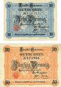 Billets Hanau. Stadt. Billets. 10 pf, 50 pf 1.6.1917