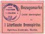 Billets Hassloch Gemeinde. Bon d'achat (Bezugsmarke) 1 litre d'alcool à brûler (1 Literflasche Brennspiritus