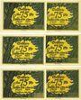 Billets Kahla. Stadt. Série de 3 billets. 75 pf (6 ex) 1.11.1921, série ville et campagne
