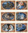 Billets Kahla. Stadt. Série de 6 billets. 50 pf (6ex) 20.11.1921, sans numérotation, série de Noël