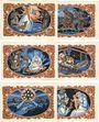 Billets Kahla. Stadt. Série de 6 billets. 50 pf (6ex) 20.11.1921 série de Noël