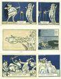 Billets Kahla. Stadt. Série de 6 billets. 75 pf (6ex) 1.12.1921, série politique