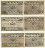Billets Kahla. Thüringer Schachbund. Série de 6 billets. 75 pf n.d. - 1.11.1921