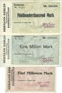 Billets Kaiserslautern. Hermann Gehlen. Baunternehmung. Billets. 500000 mk, 1 million mk, 5 millions mk 1923