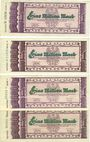 Billets Kaiserslautern. Stadt. Billets. 1 million mark (4ex) 15.9.1923, série (Teihe) A, D, F, H