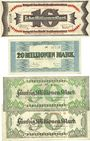 Billets Kaiserslautern. Stadt. Billets. 10 millions, 20 millions, 50 millions mark (2ex) 10.9.1923