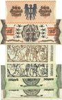 Billets Kaiserslautern. Stadt. Billets. 500 000, 10, 20 (2ex), 50 (2ex) millions mark 10.9.1923