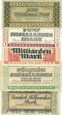 Billets Kaiserslautern. Stadt. Billets. 500 millions, 5, 10, 50, 100 milliards mark 10.10.1923