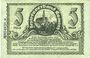 Billets Kamenz. Amtshauptmannschaft. Billet. 5 mark 15.11.1918. Annulation par numérotation barrée en bleu