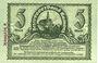 Billets Kamenz. Amtshauptmannschaft. Billet. 5 mark 15.11.1918. Annulation par numérotation barrée en rouge