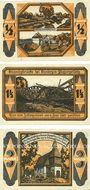 Billets Kandrzin-Pogorzelletz (Kedzierzyn, Pologne), Gemeinde. 3 billets. 1/2, 1 1/2, 3 mark 6.6.1921