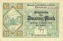 Billets Karlsruhe. Stadt. Billet. 20 mark 16.10.1918