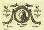 Billets Keilhau. Gemeinde. Billet. 50 pf 1.6.1921