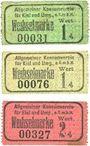 Billets Kiel. Allgemeiner Konsumverein für Kiel und Umg. e.G.m.b.H. Billets. 1 pf (2ex), 2 pf