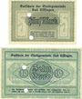 Billets Kissingen, Bad. Stadt. Billets. 5, 10 mark 20.10.1918, sans numérotation