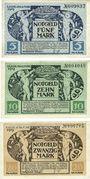 Billets Kitzingen. Stadt. Billets. 5 mark, 10 mark 8.11.1918