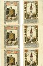 Billets Kitzingen. Stadt. Billets. 50 pf 1921. Série de 5 billets sans numérotation...