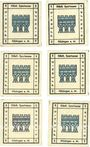 Billets Kitzingen, Städtische Sparkasse, 1 pf 1920, type avec filigrane, 6 ex avec légendes différentes