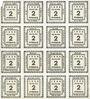 Billets Kitzingen. Städtische Sparkasse. Bloc de 2 séries de 8 billets. 1 pf 1920. Type sans filigrane