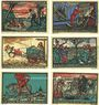 Billets Kneitlingen. Gemeinde. Série de 6 billets. 50 pf (2ex), 75 pf (2ex), 1 mk (2ex) 1.7.1921 (1922)