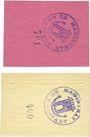 Billets Konstadt (Wolczyn, Pologne). Stadt. Billets. 7 pf, 14 pf 10.4.1918