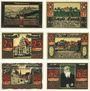 Billets Kronach. Stadt. Série de 6 billets. 25 pf (3ex), 50 pf (3ex) 1921