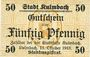 Billets Kulmbach. Stadt. Billet. 50 pf 11.10.1918