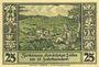 Billets Lähn (Wlen, Pologne). Städtische Sparkasse. Billet. 25 pf (1922), avec signature, sans date