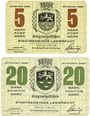 Billets Lambrecht. Stadt. Billets. 5 mark, 20 mark 15.11.1918