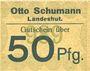 Billets Landeshut (Kamienna Gora, Pologne), O. Schumann, billet, 50 pf (1920)