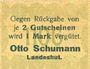 Billets Landeshut (Kamienna Gora, Pologne), O. Schumann, billet, 50 pf 1920
