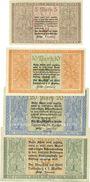 Billets Landsberg a. d. Warthe, Stadt, série de 4 billets, 5 mark, 10 mark, 20 mark, 50 mark