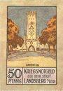 Billets Landsberg am Lech, Stadt, billet, 50 pf juillet 1918