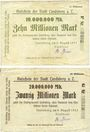 Billets Landsberg am Lech, Stadt, billets, 10 millions mark, 20 millions mark 9.8.1923