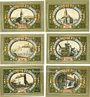 Billets Langensalza, Stadt, série de 6 billets, 25 pf 1921