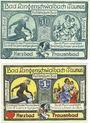 Billets Langenschwalbach, Stadt, billets, 50 pf, 1 mark 1.12.1920
