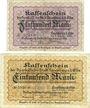 Billets Lauenburg a. d. Elbe, Sparkasse der Stadt, billets, 500 mark, 1000 mark 15.10.1922