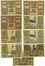 Billets Laufen-Tittmoning, Bezirksamt, billets, 50 pf (3ex), 25 pf (4ex), 50 pf (2ex)  1920