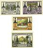 Billets Lauterberg i. Harz, Stadt, billets, 25 pf, 50 pf, 75 pf, 100 pf 15.7.1921