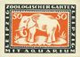 Billets Leipzig-Land, Zoologischer Garten, billet, 50 pf 3.5.1921