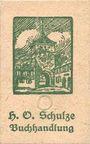 Billets Lichtenfels a. Main, H. O. Schulze Buchhandlung, billet, 10 pf (1920), lettre O